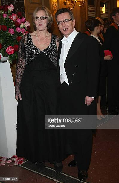 Thomas de Maiziere and his wife Martina de Maiziere attend the Semper Opera Ball on January 16 2009 in Dresden Germany