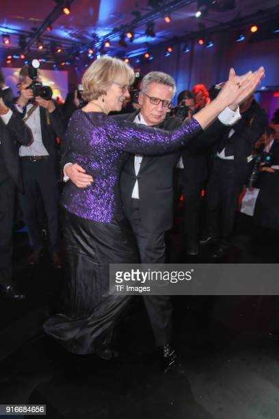 Thomas de Maiziere and Martina de Maiziere dance during the German Sports Gala 2018 'Ball Des Sports' on February 3, 2018 in Wiesbaden, Germany.