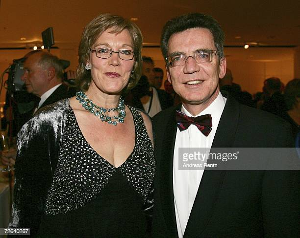 Thomas de Maiziere and wife Martina de Maiziere attend the German Bundespresseball on November 24 2006 in Berlin Germany
