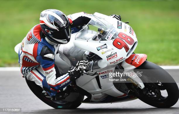 Thomas De Vries of Netherlands in action during the British Superbike Championship at Oulton Park on September 08, 2019 in Chester, England.