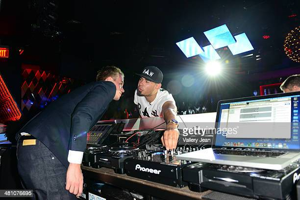 Thomas Deelder and Afrojack attend a Private Listening Event for Afrojack Debut Album Forget The World at W Hotel on March 27 2014 in Miami Florida