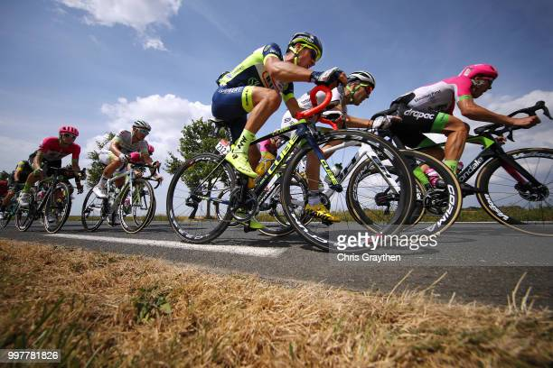 Thomas Degand of Belgium and Team Wanty Groupe Gobert / Peloton / during the 105th Tour de France 2018, Stage 7 a 231km stage from Fougeres to...