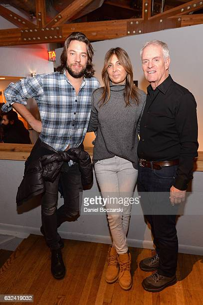 Thomas Dekker Nathalie Marciano and David Gersh attend the Gersh Party at Sundance at Wasatch Brew Pub on January 22 2017 in Park City Utah