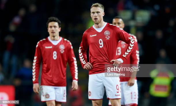 Thomas Delaney Nicolai Jorgensen and Mathias Zanka Jorgensen of Denmark during the International friendly match between Denmark and Panama at Brondby...