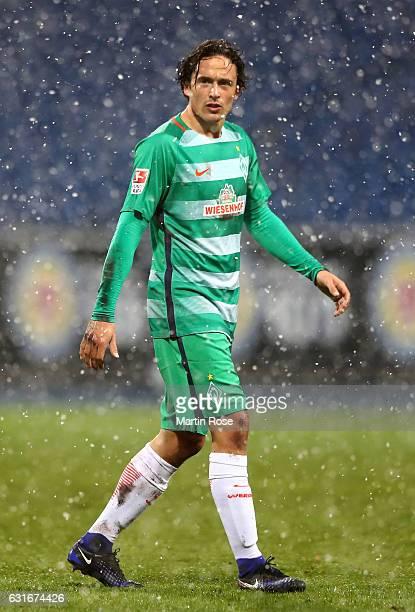 Thomas Delaney of Bremen runs during the friendly match between Eintracht Braunschweig and Werder Bremen at Eintracht Stadion on January 14 2017 in...