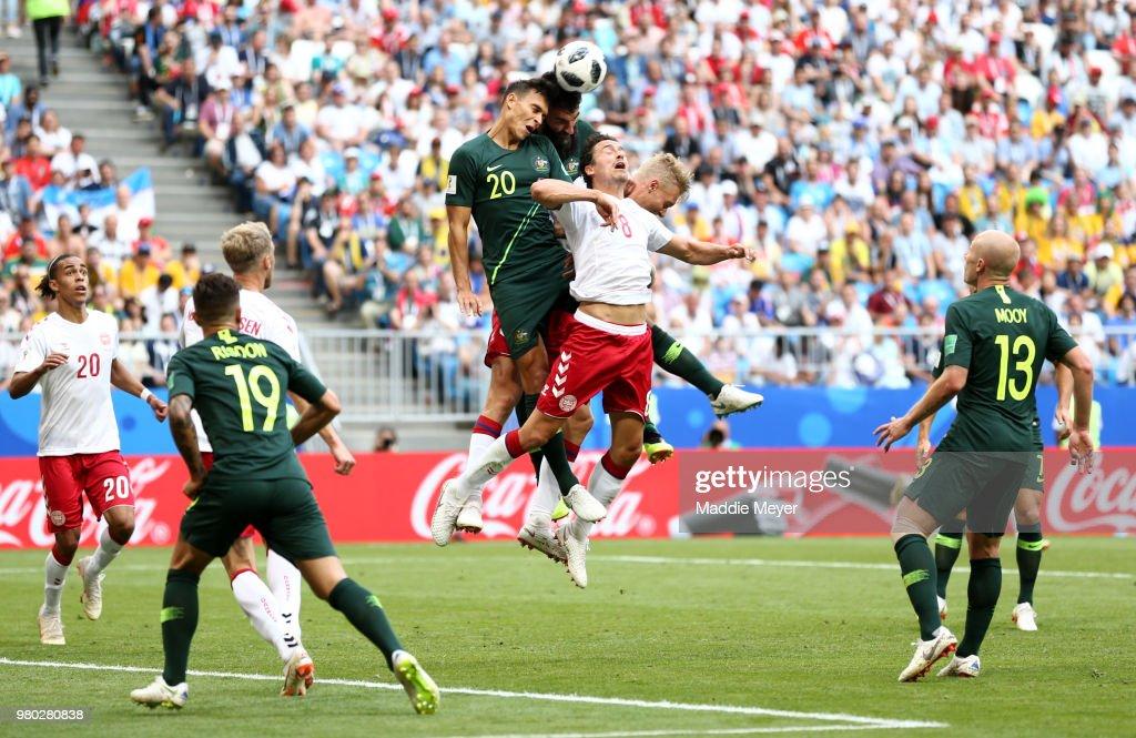 Denmark v Australia: Group C - 2018 FIFA World Cup Russia : News Photo