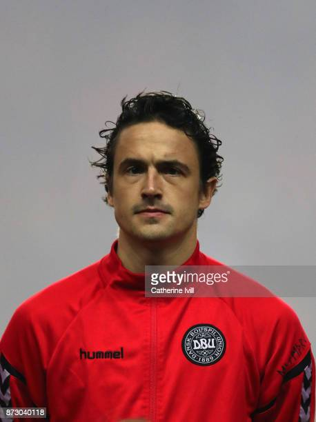 Thomas Delaney of Denmark during the FIFA 2018 World Cup Qualifier PlayOff First Leg between Denmark and Republic of Ireland at Telia Parken on...