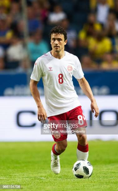 Thomas Delaney of Denmark during the International Friendly match between Sweden and Denmark at Friends Arena on June 2 2018 in Solna Sweden