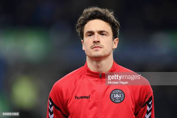 Thomas Delaney of Denmark looks on before the International Friendly match between Denmark and Panama at Brondby Stadion on March 22 2018 in Brondby...
