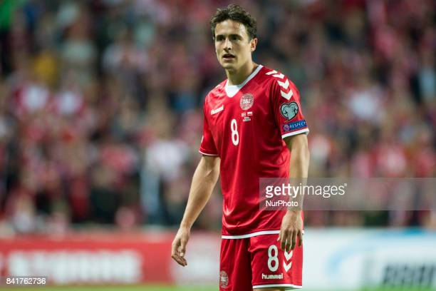 Thomas Delaney of Denmark looks on during the FIFA World Cup 2018 Qualifying Round between Denmark and Poland at Telia Parken Stadium in Copenhagen...