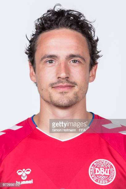 Thomas Delaney of Denmark poses during official FIFA World Cup 2018 portrait session on June 12 2018 in Anapa Russia