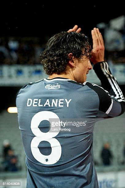 Thomas Delaney of FC Copenhagen applauds the fans after the Danish Alka Superliga match between AGF Aarhus and FC Copenhagen at Ceres Park on March 6...