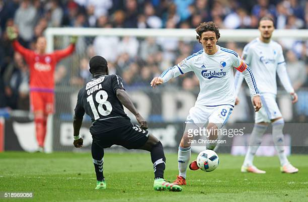 Thomas Delaney of FC Copenhagen controls the ball during the Danish Alka Superliga match between FC Copenhagen and SonderjyskE at Telia Parken...