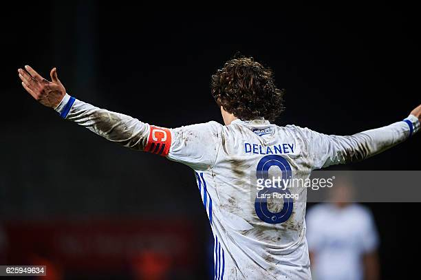 Thomas Delaney of FC Copenhagen shows frustration during the Danish Alka Superliga match between Lyngby Boldklub and FC Copenhagen at Lyngby Stadion...