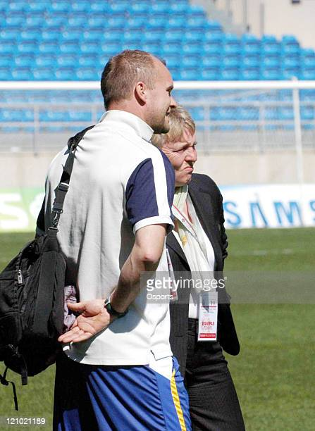 Thomas Dennerby, Sweden's head coach during the game. China 0:1 Sweden in a Algarve Cup Group B match at the Algarve Stadium in Faro, Portugal on...