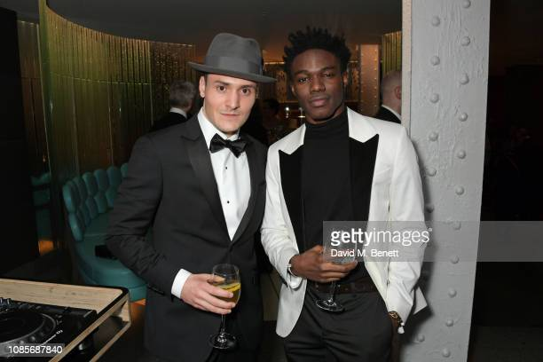 Thomas Dennis and Kelly Osasere attend The 39th London Film Critics' Circle Awards at The May Fair Hotel on January 20 2019 in London England