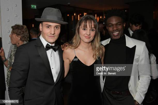 Thomas Dennis Molly Wright and Kelly Osasere attend The 39th London Film Critics' Circle Awards at The May Fair Hotel on January 20 2019 in London...