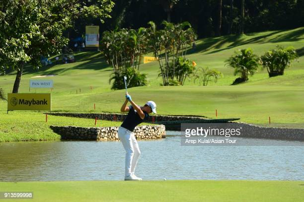 Thomas Detry of Belgium pictured during day three of the 2018 Maybank Championship at Saujana Golf and Country Club on February 3 2018 in Kuala...