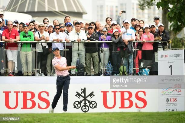 Thomas Detry of Belgium pictured during final round of the UBS Hong Kong Open at The Hong Kong Golf Club on November 26 2017 in Hong Kong Hong Kong