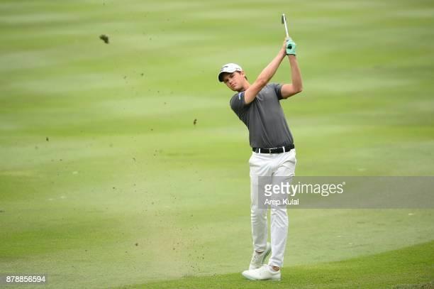 Thomas Detry of Belgium pictured during round three of the UBS Hong Kong Open at The Hong Kong Golf Club on November 25 2017 in Hong Kong Hong Kong