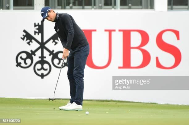 Thomas Detry of Belgium pictured during round two of the UBS Hong Kong Open at The Hong Kong Golf Club on November 24 2017 in Hong Kong Hong Kong