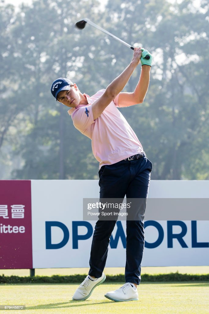 Thomas Detry of Belgium plays a shot during round four of the UBS Hong Kong Open at The Hong Kong Golf Club on November 26, 2017 in Hong Kong, Hong Kong.