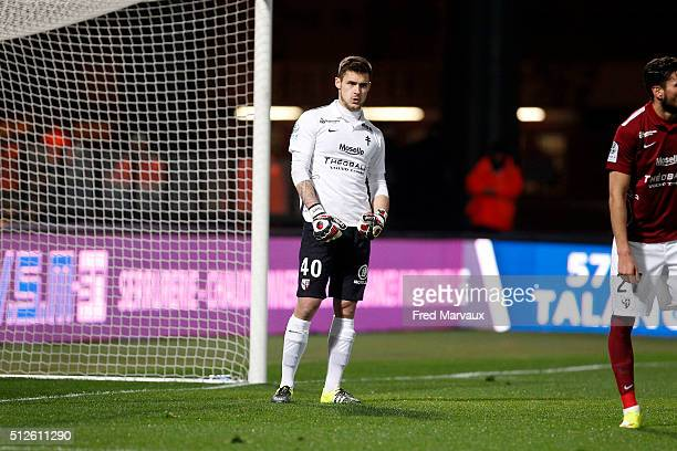 Thomas DIDILLON of Metz during the french ligue 2 match between FC Metz v Brest on February 26 2016 in Metz France