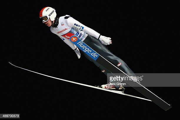 Thomas Diethart of Austria competes during the first round on day 2 of the Four Hills Tournament Ski Jumping event at SchattenbergSchanze on December...