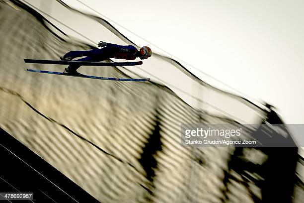 Thomas Diethart of Austria competes during the FIS SkiFlying World Championships HS205 on March 14 2014 in Harrachov Czech Republic