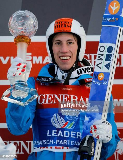 Thomas Diethart of Austria during the FIS Ski Jumping World Cup Vierschanzentournee on January 01, 2014 in Garmisch-Partenkirchen, Germany.