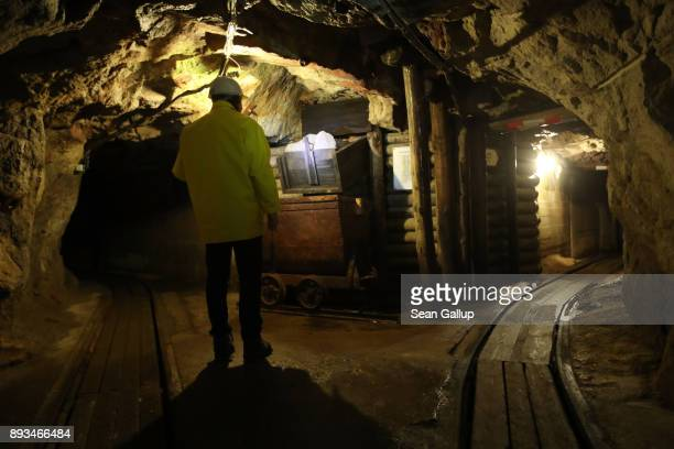 Thomas Dittrich a geologist working for Deutsche Lithium GmbH walks through a centuriesold former tin and wolfram mine that contains ample amounts of...