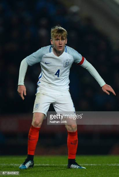 Thomas Doyle of England U17s in action during the International Match between England U17 and Portugal U17 at Proact Stadium on November 8 2017 in...