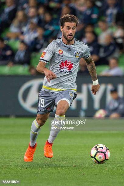 Thomas Doyle of the Wellington Phoenix runs with the ball during the round 25 match of the Hyundai ALeague between Wellington Phoenix and Melbourne...