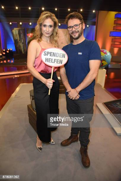 Thomas Drechsel and Lea Marlen Woitack of german TV series GZSZ attend the RTL Telethon 2017 on November 23 2017 in Huerth Germany