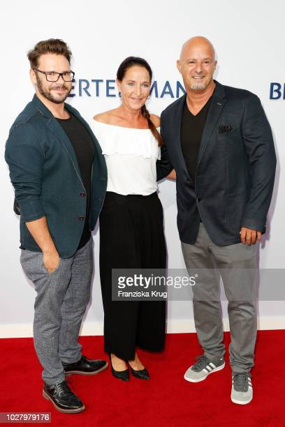 Thomas Drechsel Nicole Steves and Detlef Steves attend the Bertelsmann Summer Party at Bertelsmann Repraesentanz on September 6 2018 in Berlin Germany