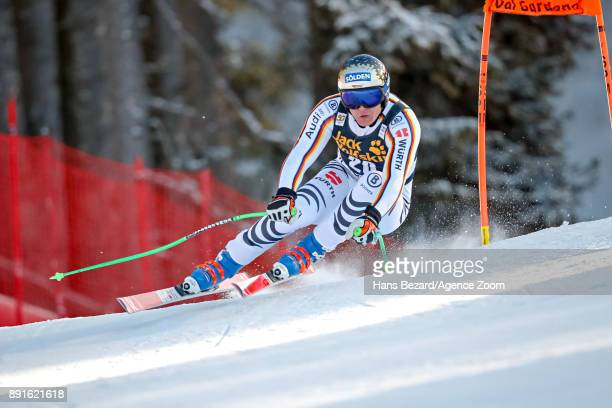 Thomas Dressen of Germany competes during the Audi FIS Alpine Ski World Cup Men's Downhill Training on December 13 2017 in Val Gardena Italy