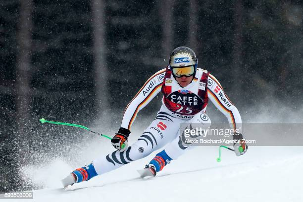 Thomas Dressen of Germany competes during the Audi FIS Alpine Ski World Cup Men's Super G on December 15 2017 in Val Gardena Italy