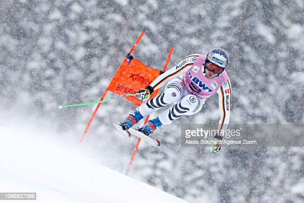 Thomas Dressen of Germany crashes out during the Audi FIS Alpine Ski World Cup Men's Downhill on November 30 2018 in Beaver Creek USA