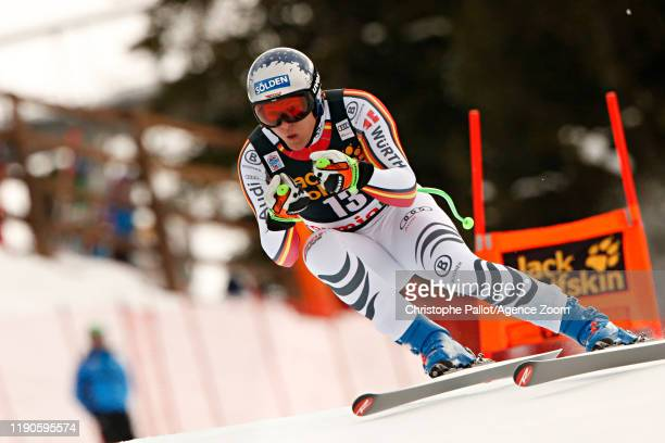 Thomas Dressen of Germany in action during the Audi FIS Alpine Ski World Cup Men's Downhill on December 27, 2019 in Bormio Italy.