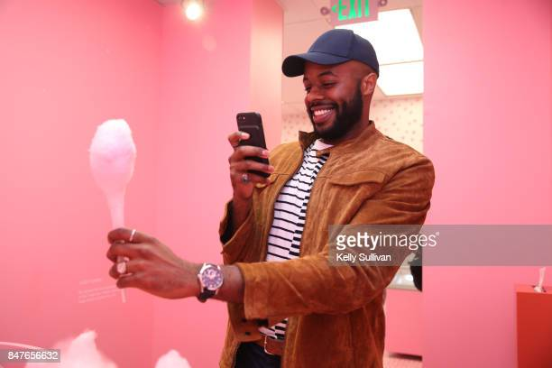 Thomas Drew enjoys the Museum of Ice Cream opening party on September 15 2017 in San Francisco California
