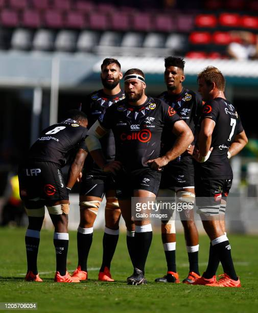 Thomas du Toit of the Cell C Sharks during the Super Rugby match between Cell C Sharks and Jaguares at Jonsson Kings Park Stadium on March 07, 2020...
