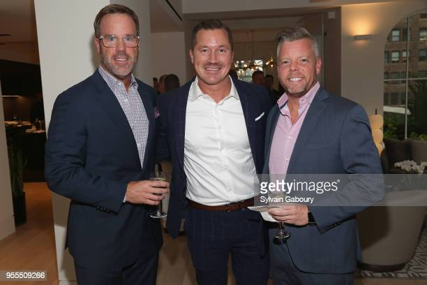 Thomas Durein Robert Acton and Scott Ashley attend Ambassador Grenell Goodbye Bash on May 6 2018 in New York City