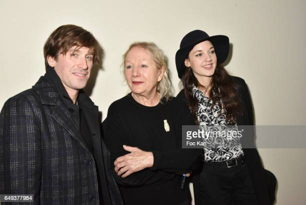 Thomas Dutronc Agnes B and Jain attend the Agnes B show as part of the Paris Fashion Week Womenswear Fall/Winter 2017/2018 at Hotel des Invalides on...
