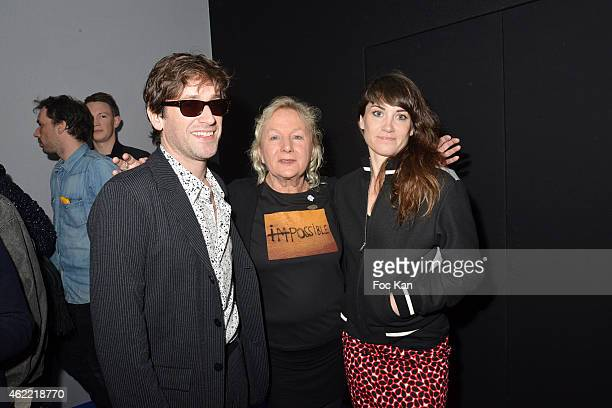 Thomas Dutronc Agnes B and singer Phoebe Killdeer attend the Agnes B Menswear Fall/Winter 20152016 show as part of Paris Fashion Week on January 25...