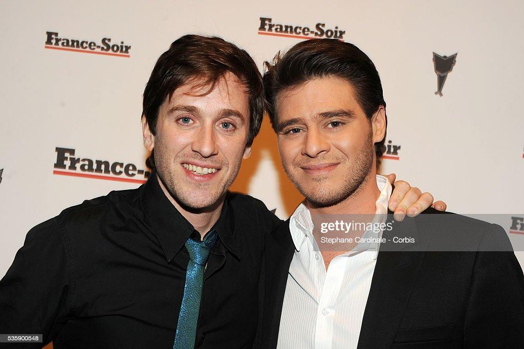 Thomas Dutronc and Julien Dassin attend France Soir Launch Party in Paris.