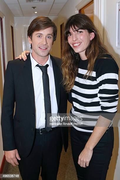 Thomas Dutronc and Lou Doillon attend the 'Vivement Dimanche' French TV Show at Pavillon Gabriel on November 10 2015 in Paris France