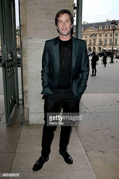Thomas Dutronc arrives at the Cerruti Menswear Fall/Winter 20142015 show as part of Paris Fashion Week on January 17 2014 in Paris France