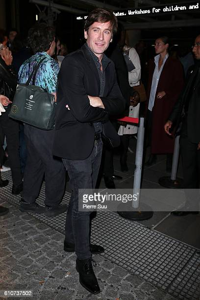 Thomas Dutronc arrives at the Etam show as part of the Paris Fashion Week Womenswear Spring/Summer 2017 on September 27 2016 in Paris France
