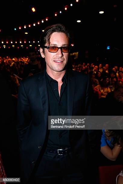 Thomas Dutronc attends the one man shoow of Pierre Richard 'Le Vendredi 13 De Pierre Richard' at L'Olympia on June 13 2014 in Paris France