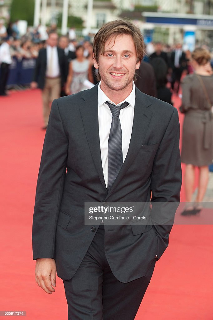 Thomas Dutronc attends the premiere of movie 'You Will Meet a Tall Dark Stranger' at the 36th American Film Festival in Deauville.